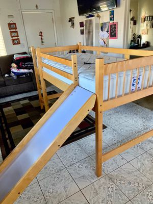 Combo bed/slide /mattress desk and book shelf . for Sale in San Diego, CA