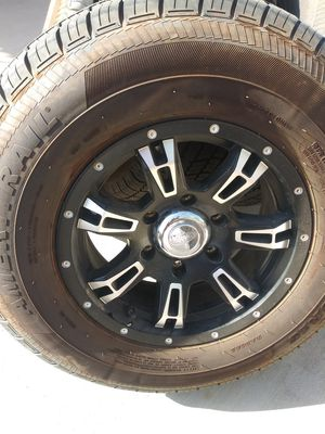 Trailer Wheels- set of 4 with spare for Sale in Mesa, AZ