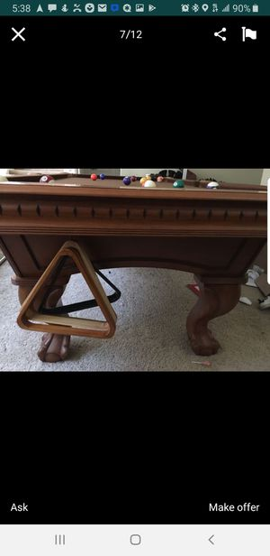8x4 Pooltable 3 piece slate for sale for Sale in Los Angeles, CA