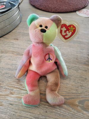 Rare Peace Bear TY beanie baby with tag errors for Sale in Gilbert, AZ