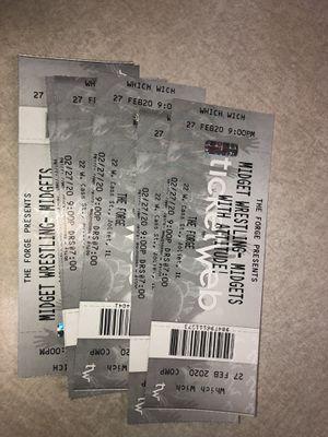 Midget Wrestling Tickets Feb 27th Joliet IL for Sale in Chicago, IL