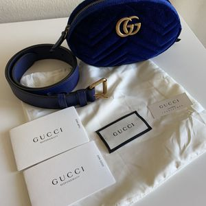 Gucci Marmont Velvet Blue Belt Bag for Sale in Costa Mesa, CA