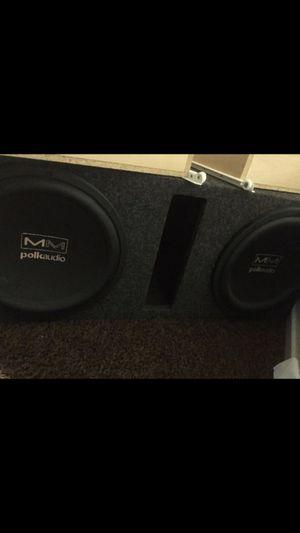 """Polk Audio 12"""" and Speaker box for Sale in Fresno, CA"""