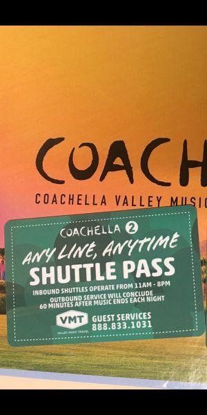 (2) Coachella weekend 2 shuttle passes for Sale in Glendale, CA