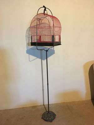Pink and gray bird cage for Sale in Affton, MO