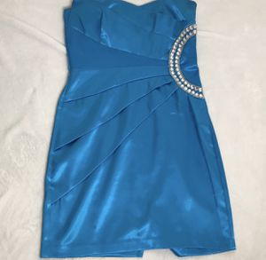 Teeze Me Blue Strapless Party Dance Dress Size 7 Juniors for Sale in El Cajon, CA