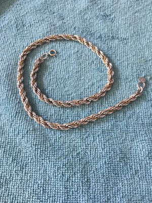 Tiffany Sterling and Gold Rope Chain for Sale in Carlsbad, CA