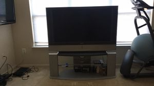"""Sony 50"""" projection lcd tv and matching stand great condition for Sale in Ashburn, VA"""