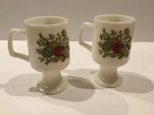 Pyrex Corningware Spice of Life Pattern Irish Coffee Mugs for Sale in Horseshoe Beach, FL