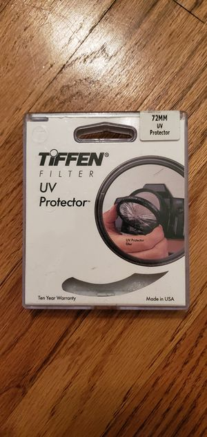 Tiffen 72mm UV filter for Sale in Los Angeles, CA