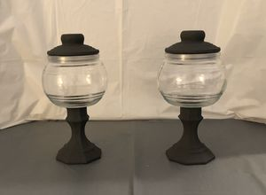 Dark Grey Chalk Paint Jars Set for Sale in Riverton, UT