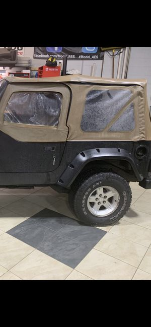 Jeep Soft Top Tan for Sale in Mahwah, NJ