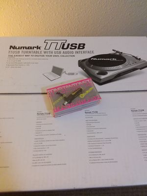 Numark TTUSB Belt Drive Turntable with Audio interface New in Box with Stanton Pro Disco Discmaster cartridge and stylus for Sale in Portland, OR