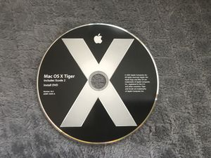 Mac OS X Tiger installation disc for Sale in Los Angeles, CA