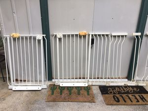 ** 2 SAFETY GATES FOR KIDS PETS DOG WITH EXTENSIONS** for Sale in Lake Forest, CA