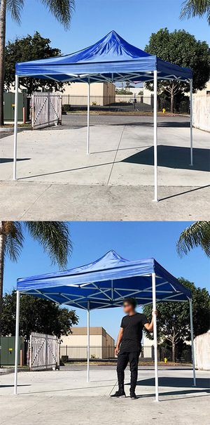 New in box $90 Blue 10x10 Ft Outdoor Ez Pop Up Wedding Party Tent Patio Canopy Sunshade Shelter w/Bag for Sale in Whittier, CA
