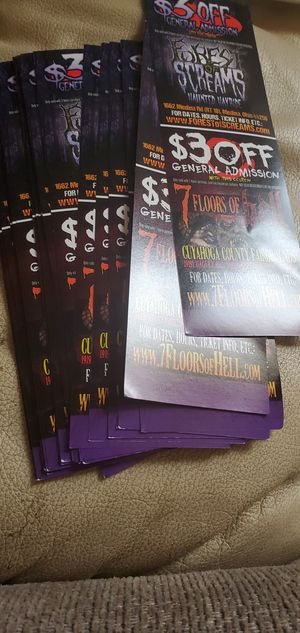 Haunted house discount coupons for Sale in Brook Park, OH