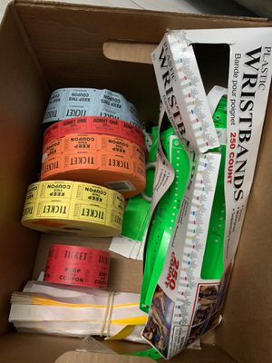 Box of Event Tickets + Wristbands for Sale in Miami, FL
