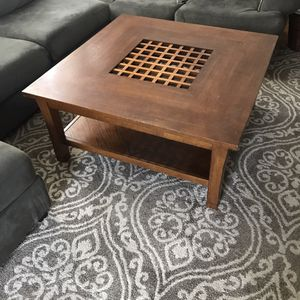 Wooden square coffee table for Sale in Owatonna, MN