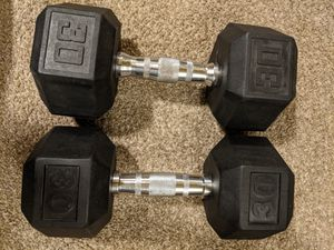 2x 30lbs Dumbbells for Sale in Bremerton, WA