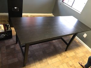 Solid wood desk table with folding leaf for Sale in Tempe, AZ