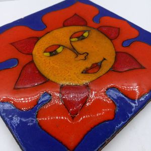 Vintage Hand Painted Ceramic Tile for Sale in Waterbury, CT