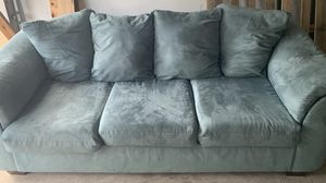 Moving!! Coastal blue/grey couch for sale! for Sale in Palm Beach Gardens, FL