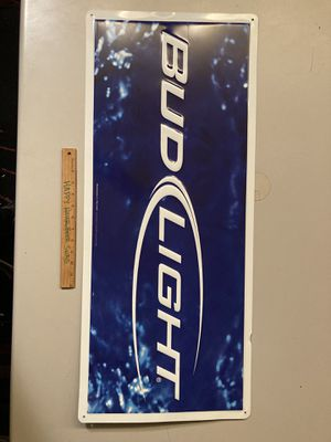 Bud Light Metal Beer Bar tin Sign for Sale in Chino Hills, CA