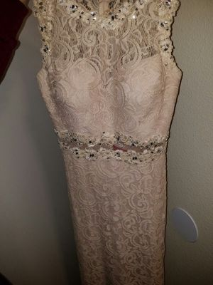 Formal Size LARGE Champagne Dress for Sale in Poway, CA