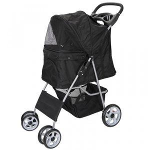 Dog Stroller Travel Folding Carrier Small Medium Cat Pet 4 Wheeler w/ Cup Holder for Sale in Wildomar, CA