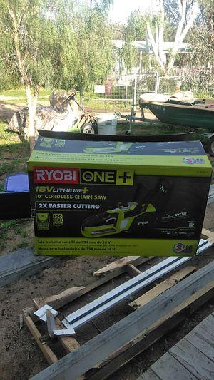 """Ryobi 18v 10"""" cordless chainsaw complete kit for Sale in Menifee, CA"""