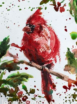 Cardinal painting for Sale in Seneca, SC
