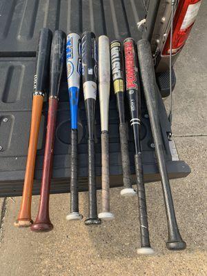 7 bats plus a plastic bat for Sale in Carrollton, TX