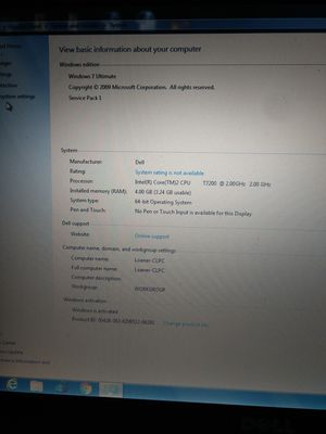 Dell XPS m1730 Quad Core X9000 4 GB RAM 8700M GT Win 7 for Sale in Hacienda Heights, CA