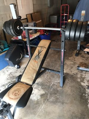 Weight bench and weights for Sale in Winston-Salem, NC