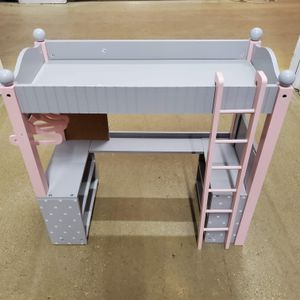 """Olivias World Doll Wooden Furniture Polka Dots Double Bunk Bed Desk TD-0204AG 18"""" Dolls for Sale in Bartlett, IL"""
