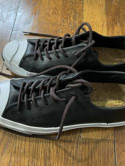 Jack Purcell Black Leather Converse for Sale in Atlanta, GA