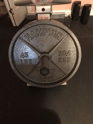 Hampton Deep Dish Weight Plates for Sale in Acworth, GA