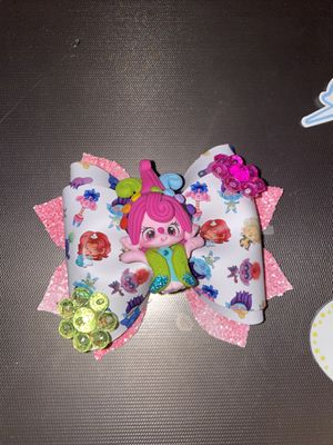 Handmade trolls hairbow for Sale in Manteca, CA