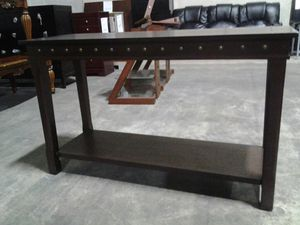 Console table - chocolate wood for Sale in Jessup, MD