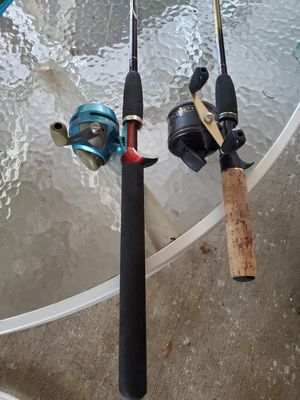 2 fishing reels and rods, 5ft, 6ft. for Sale in Murfreesboro, TN