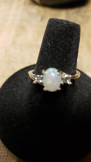 Opal and cubic zirconia ring for Sale in Farmville, VA