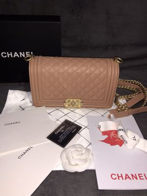 Chanel LeBoy bag caviar leather beige for Sale in The Bronx, NY