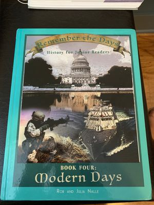 Remember the Days: History for Junior Readers Book 4 for Sale in Crozet, VA