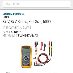 Fluke 87-V Multimeter for Sale in Richmond, VA