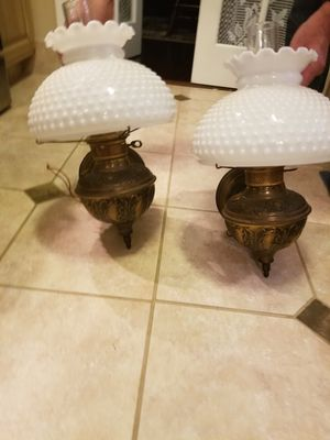 Vintage electric hurricane wall lamps for Sale in Toms River, NJ