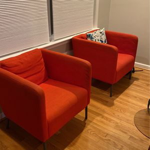 Two Red Couch Chairs for Sale in Washington, DC