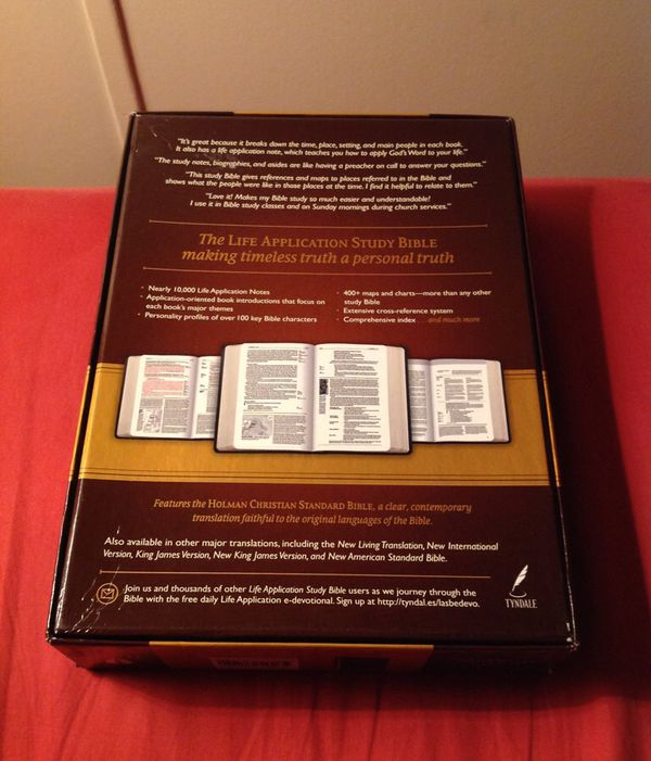 Life Application Study Bible(HCSB) Red Letter for Sale in New Oxford, PA -  OfferUp
