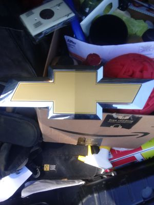 Chevy silverado front grill original bow tie badge for Sale in Sewell, NJ