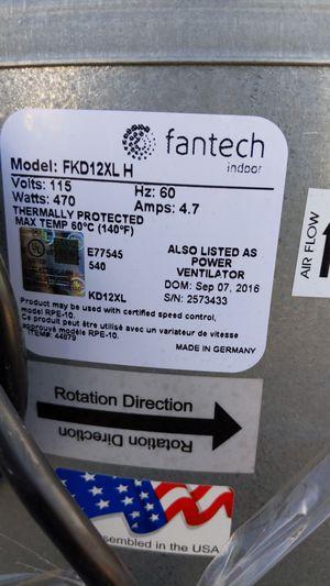 Fantech 12 inch inline fan for Sale in South El Monte, CA